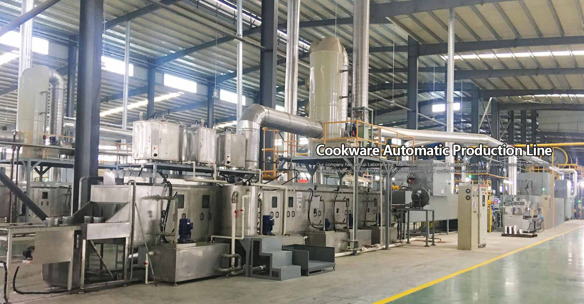 Non-stick cookware powder coating line
